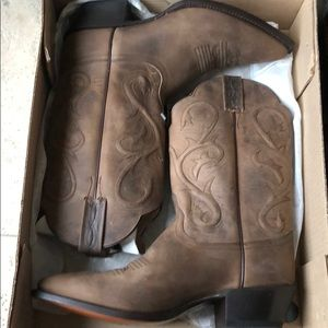 Dan Post Brown Genuine Leather Cowboy Boots